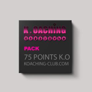 Pack de 75 points K.O (300€)
