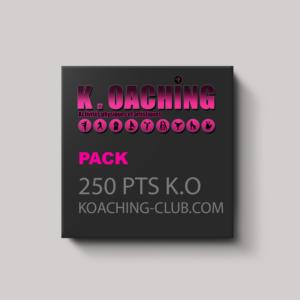 Pack de 250 points K.O (750€)